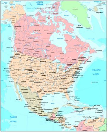 territorial: North America map