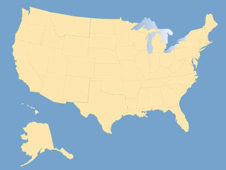 territorial: USA map, blank