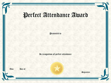 Blank Award Certificate Form Stock Photo, Picture And Royalty Free ...