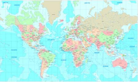 mapa politico: Pol�tica Mundial de ruta