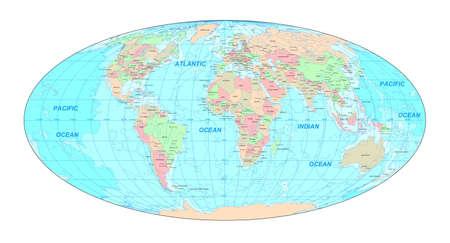 Carte du monde politique  Banque d'images