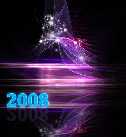 New Year festive starry and cosmic background photo