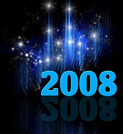 Nouvel An festif et �toil� de fond cosmologique
