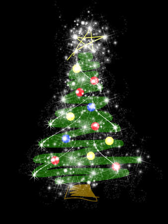 Stylized Christmas tree Stock Photo - 1630383