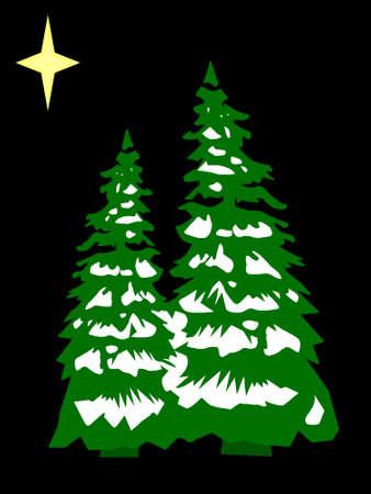 Christmas tree in retro colors scheme Stock Photo - 1630351