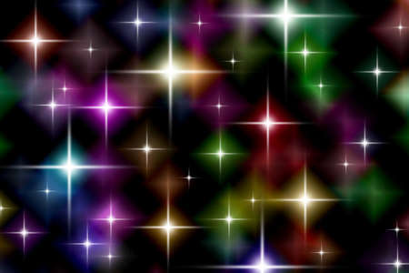 Festive starry lights background Stock Photo