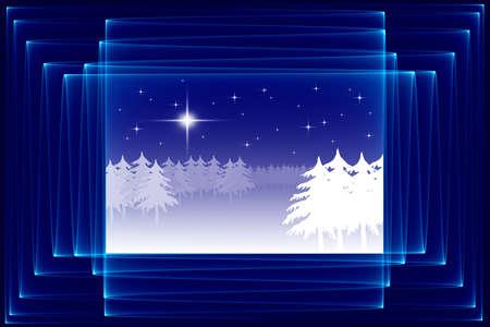 framed: Abstract Christmas sketch, framed
