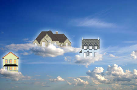 Conceptual scene- home in the Heaven photo