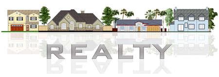 Real estate: a street illustration Stock Illustration - 1913850