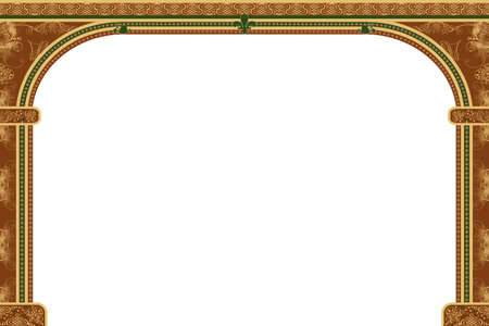 Arch with ornaments, isolated against white Stock Photo - 1954268
