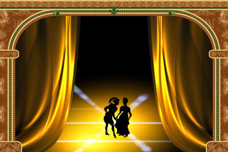 Stylized play in the theater Stock Photo - 1954280