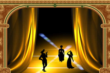 Stylized play in the theater Stock Photo - 1954283