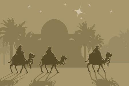reyes magos: Tres wisemans y la estrella de Bel�n