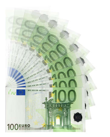 100 Euro banknotes photo