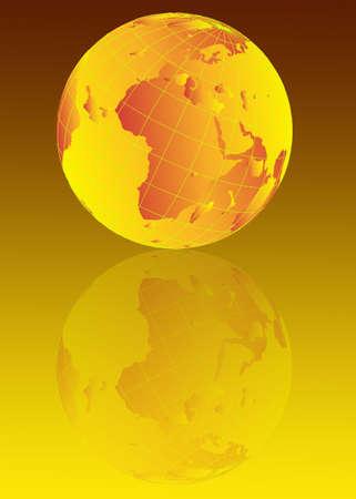 Earth globe illustration Stock Photo