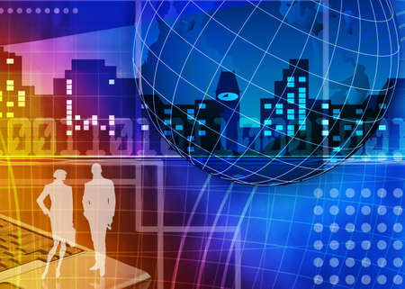 Abstract business and information technologies background Stock Photo