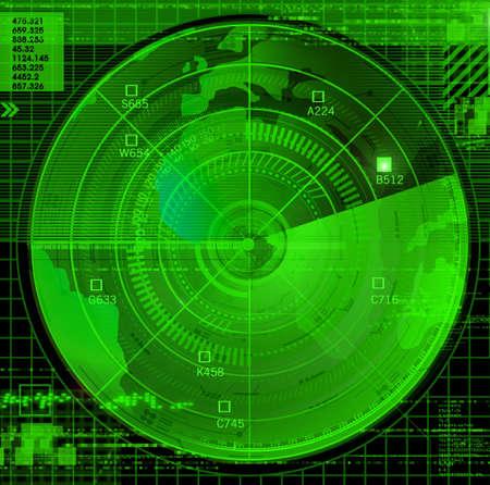 weaponry: Abstract radar illustration
