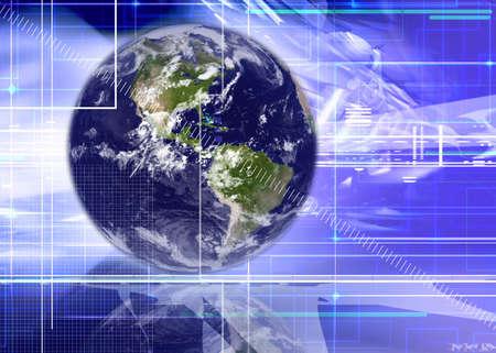 R�sum� des entreprises et technologies de l'information d'arri�re-plan  Banque d'images