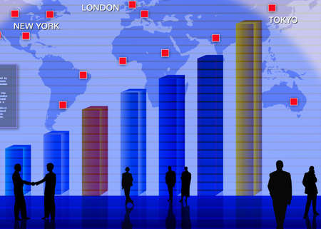 Abstract business concept: foreign currency exchange market scene Stock Photo - 3202788