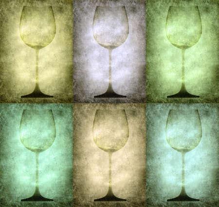 Grunge glasses illustration, vintage stylized Stock Illustration - 3227537