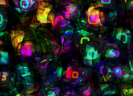 lighten: Ornamental color neon lights background