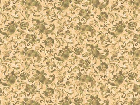 cilia: Retro stylized flowers and flagella wallpaper