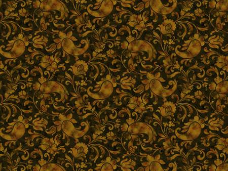 flagella: Retro stylized flowers and flagella wallpaper
