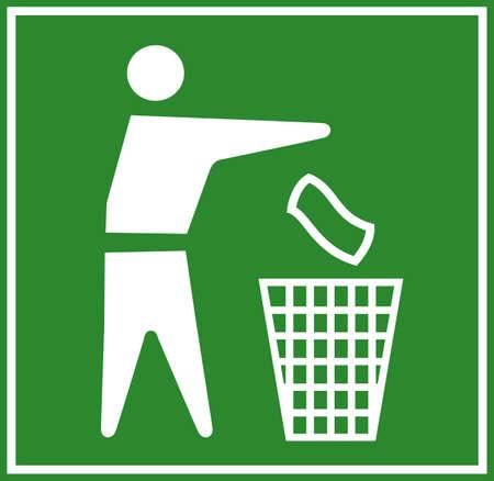 dustbin: Do not litter green logo