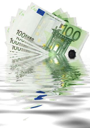 Euro sinking- hard economy times photo