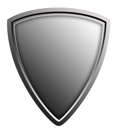 Stylized shield illustration, isolated against white Stock Photo