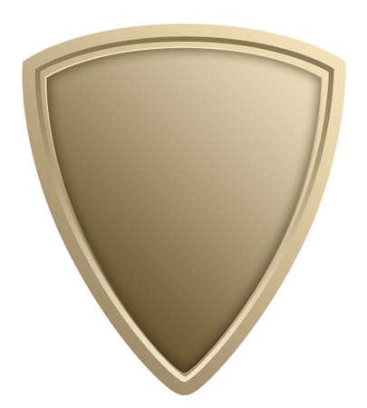 protecting: Stylized shield illustration, isolated against white Stock Photo
