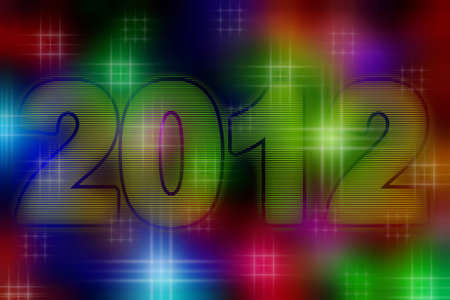 2012 Year, graphic and artistic illustration  Stock Illustration - 10983092