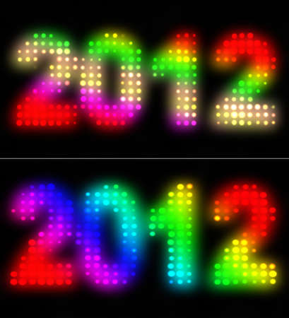 2012 Year, graphic and artistic illustration Stock Illustration - 10983089