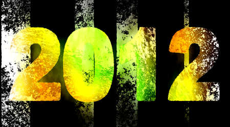 2012 Year, graphic and artistic illustration Stock Illustration - 10983094