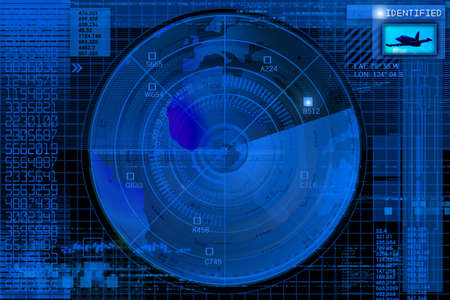 detect: Abstract radar illustration
