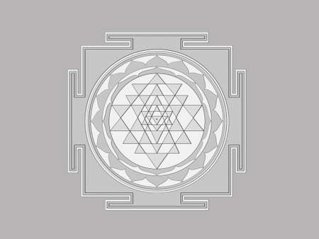 yantra: Sri Yantra  Sri Chakra  correct illustration Stock Photo
