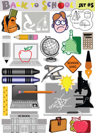 Vector Back to School related clip-arts collection Vector