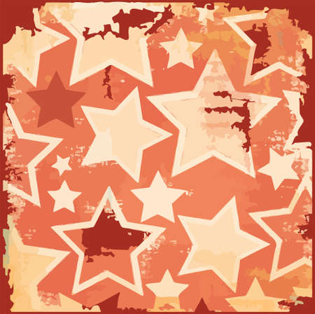Rusty, grunge, distressed retro stars holiday vector background Stock Vector - 14940613