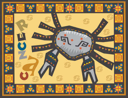 Stylized horoscope background with Zodiac signs Stock Photo - 14981996