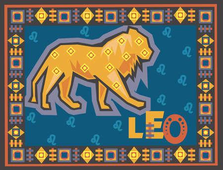 sagitario: Horóscopo fondo estilizado con signos del zodiaco