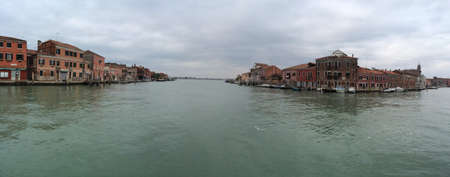 murano: Panorama from the Museuem boat stop in Murano Italy.