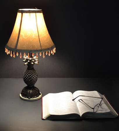 Lamp and Bible
