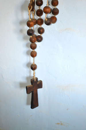 Old Wood Rosary-Cross-0 photo