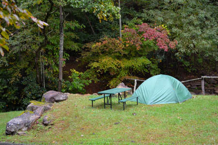 roughing: Camping--Green Dome Tent, nice location-1