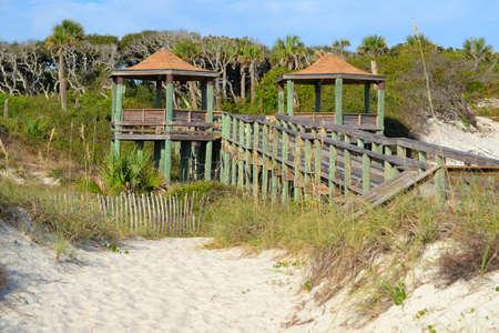 pavillion: Observation Pavillion on a Beach Walkway
