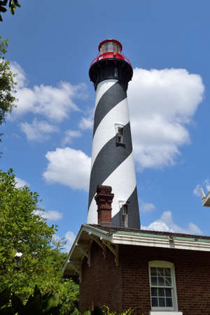 augustine: Lighthouse in St. Augustine, Florida.- 1 Stock Photo