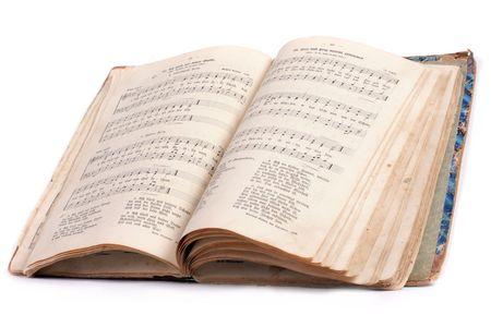 salmo: vintage religione salmo libro con musica e testo vecchio gotico