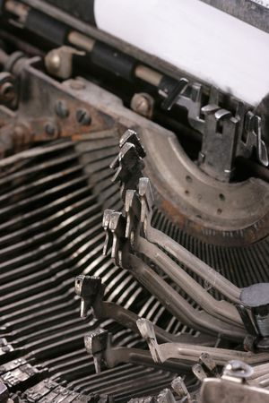 old vintage typewriter key close-up photo