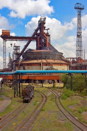 old Metallurgical combine in the city of Temirtau,Kazakhstan .Shop Stock Photo - 5819849