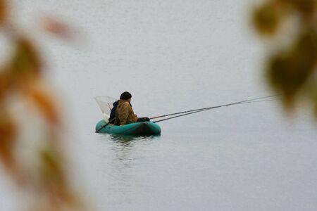 fishing on lake photo